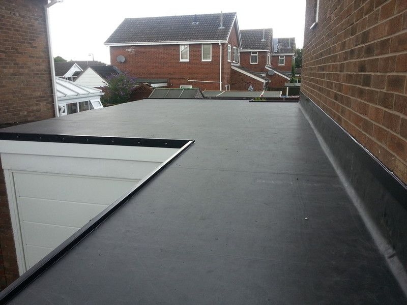 flat rubber roof on extension in Edinburgh